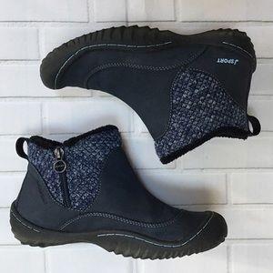 Jambu JSport Marcy Slip On Navy Ankle Boot size 7